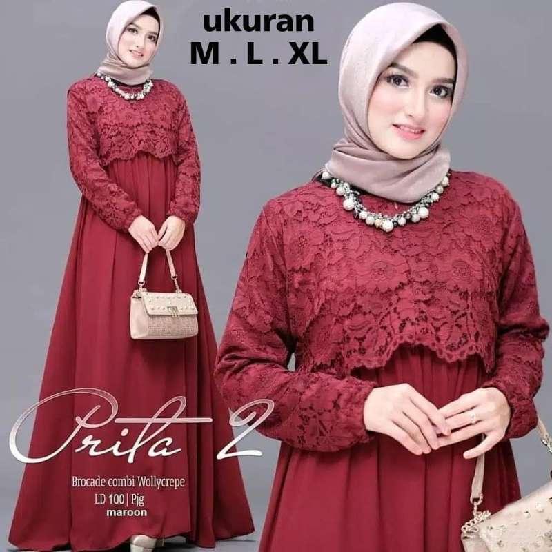 Jual Prita 2 Dress Dress Termurah Gamis Masakini Gamis Muslim Online Maret 2021 Blibli