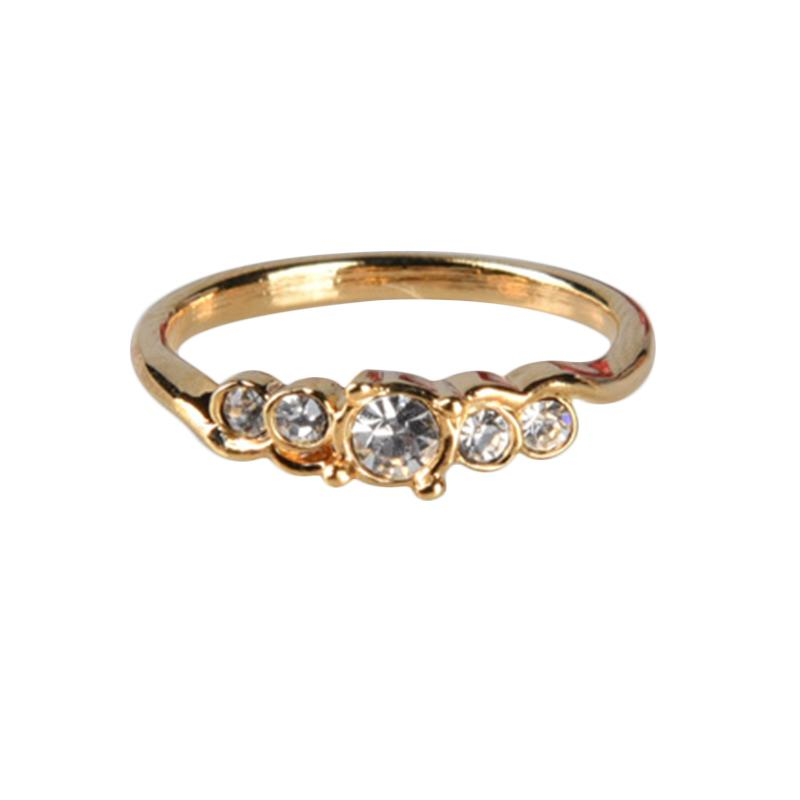 1901 Jewelry Simple Swarovski 274 CC.274.HR70 Cincin - Gold