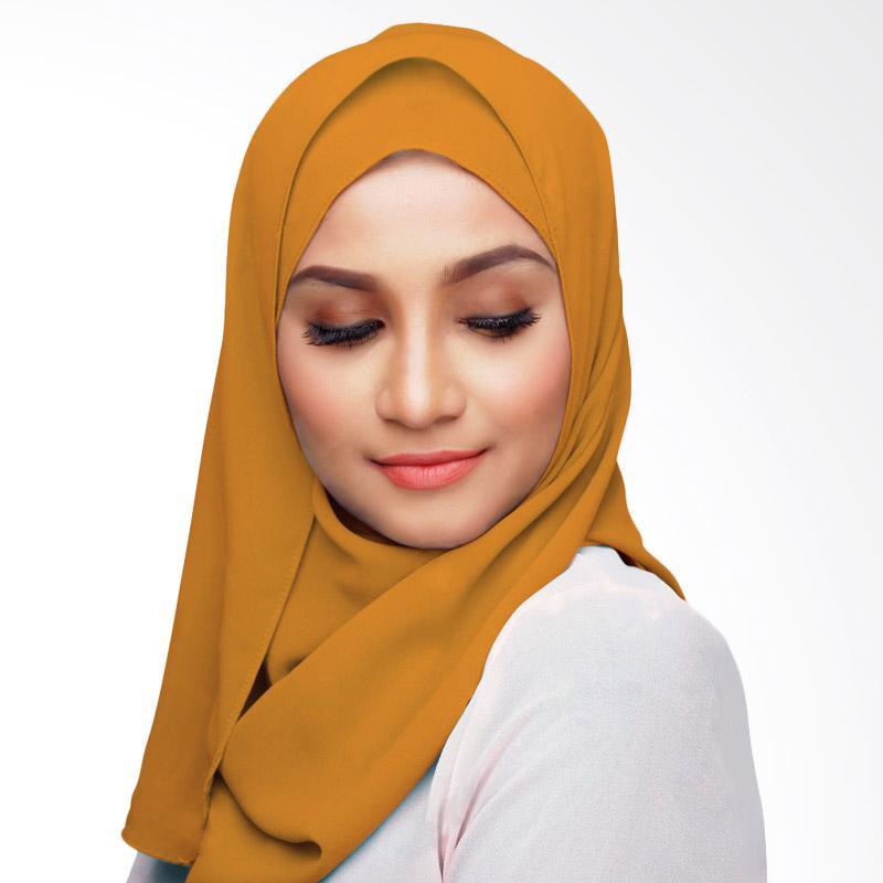 Aitana Hijab KD031 Kerudung Polos Segiempat - Orange Muda 1