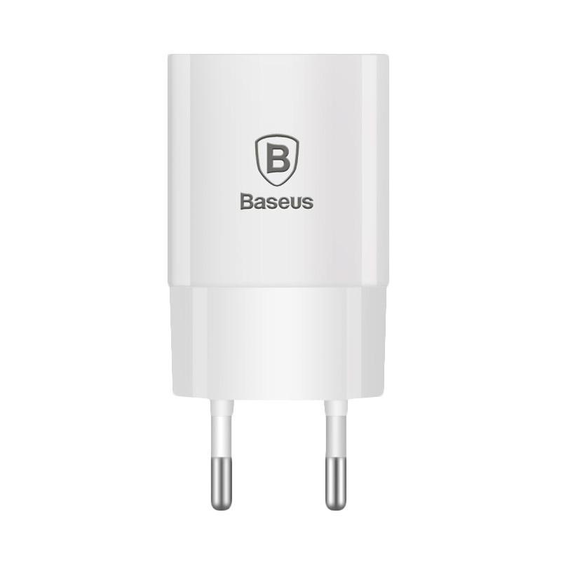 Baseus Letour Charger Adaptor - White [2.1A/EU standard]