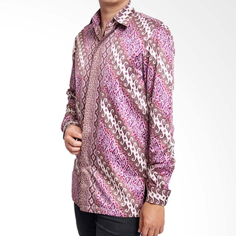 Batik Heritage Exclusive Linen Lereng Atasan Pria - Ungu