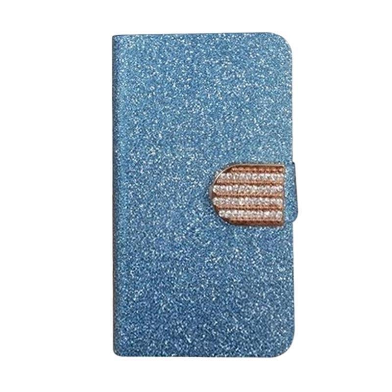 OEM Case Diamond Cover Casing for Alcatel Shine Lite - Biru