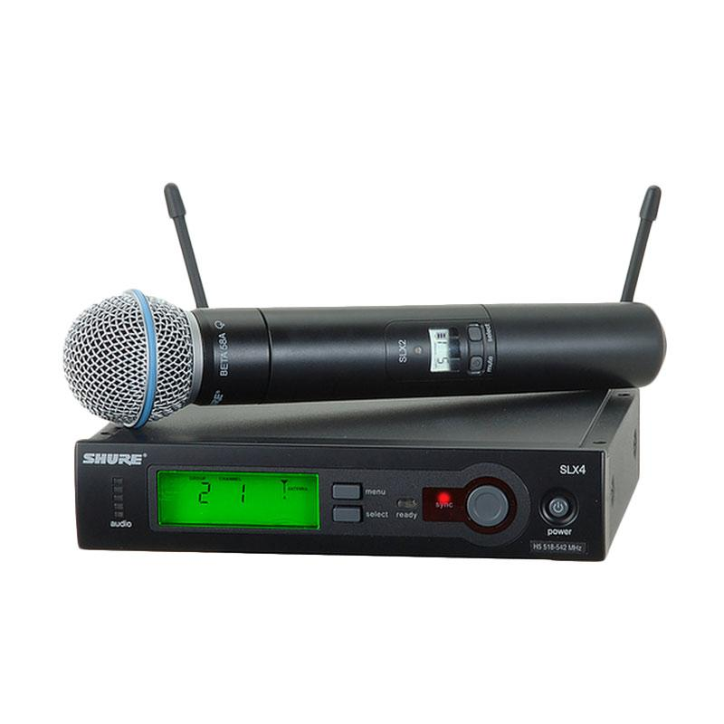 Shure SLX4 Digital Frequency Wireless Microphone with SLX2 Beta58 Mic Handheld