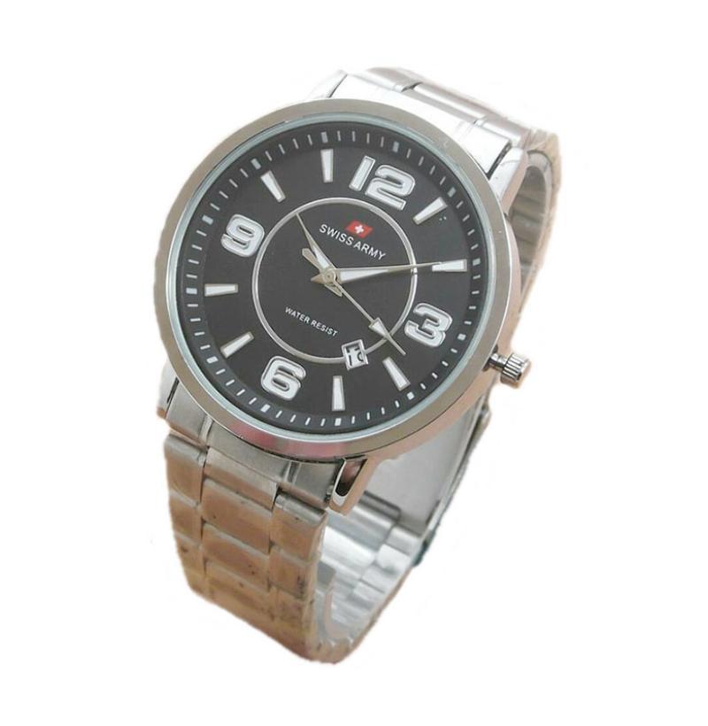 Swiss Army SA0029G Jam Tangan Pria - Silver Black