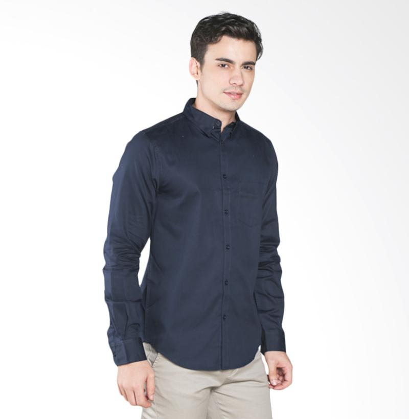A&D Fashion Long Sleeve MS 1216-539DA Kemeja Pria - Dark Navy