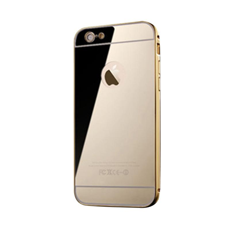 Bumper Mirror Sliding Casing for iPhone 5 - Gold