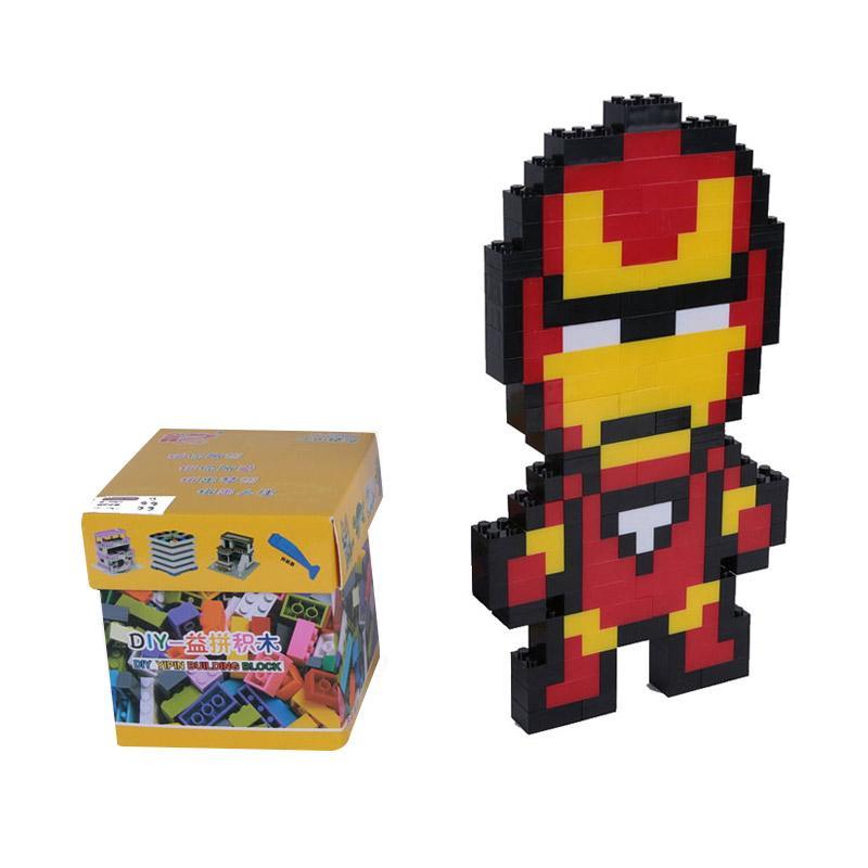 Chloe Babyshop Ironman Lego Mainan Anak - Merah