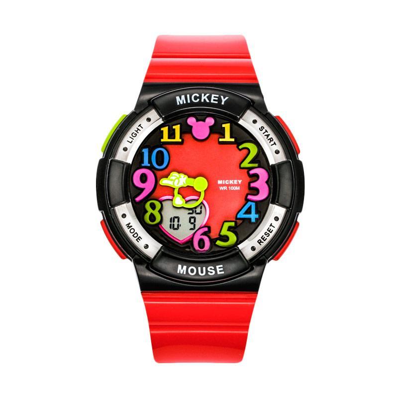 Disney MS15029-PL Mickey Jam Tangan Sports Anak - Merah