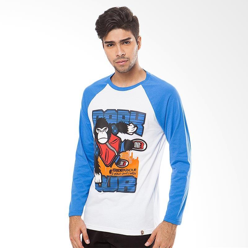 FREERIDE Kong Parkour Long Tee T-Shirt Pria - Blue Extra diskon 7% setiap hari Extra diskon 5% setiap hari Citibank – lebih hemat 10%