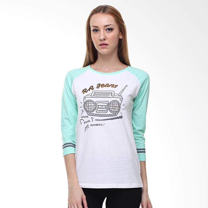 harga RA Jeans Ladies Radio RAW 5 117GM LS T-Shirt - Hijau Blibli.com