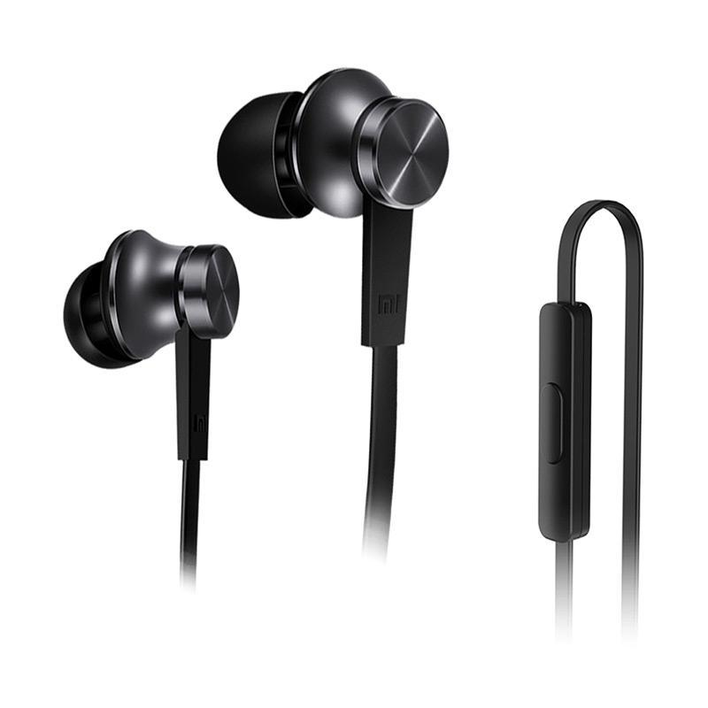 Original 100% Xiaomi Piston In Ear 3rd Generation Edition Handsfree Headset Earphone - Black