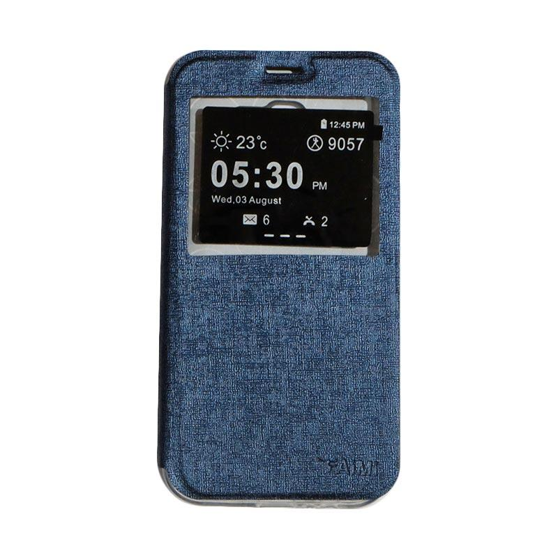 AIMI Flip Cover Casing for Samsung Galaxy A720 or A7 2017 - Navy
