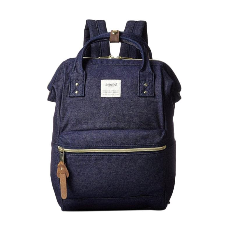 Anello Oxford Backpack Tas Ransel - Denim Navy [Size L]