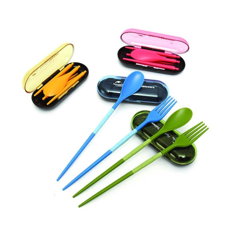 ... Jual Magic879 Travel Cutlery Set Alat Makan Portable Biru
