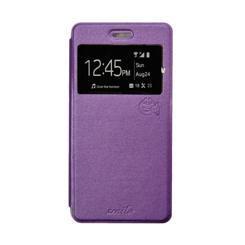 Smile Flip Cover Casing for Xiaomi Redmi Note 3 - Ungu