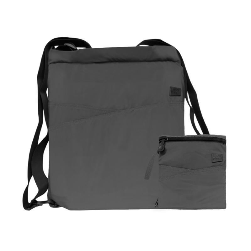 Lexon Play Folding Tote Backpack Tas Selempang - Black