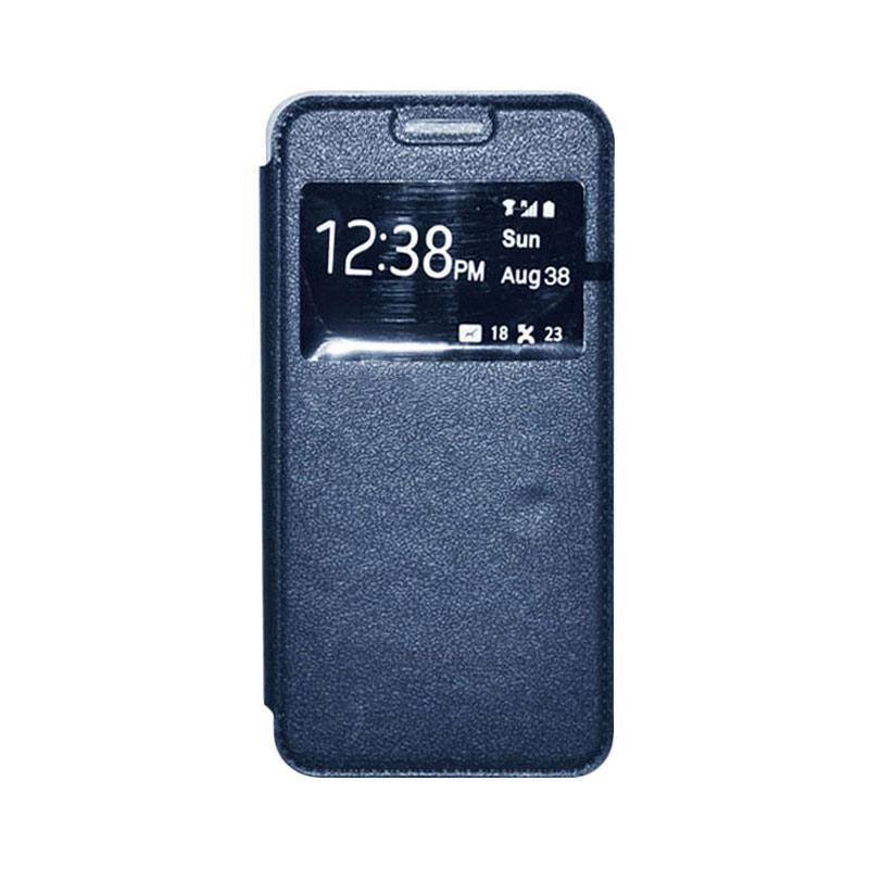 OEM Leather Book Cover Casing for Sony Xperia T3 - Navy