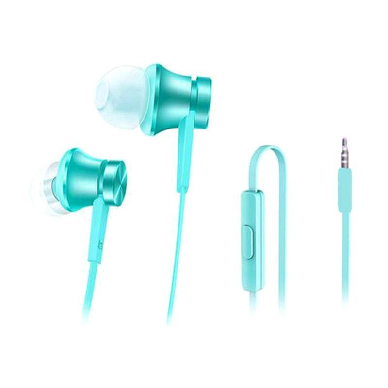 Original 100% Xiaomi Piston In Ear 3rd Generation Edition Handsfree Headset Earphone - Blue