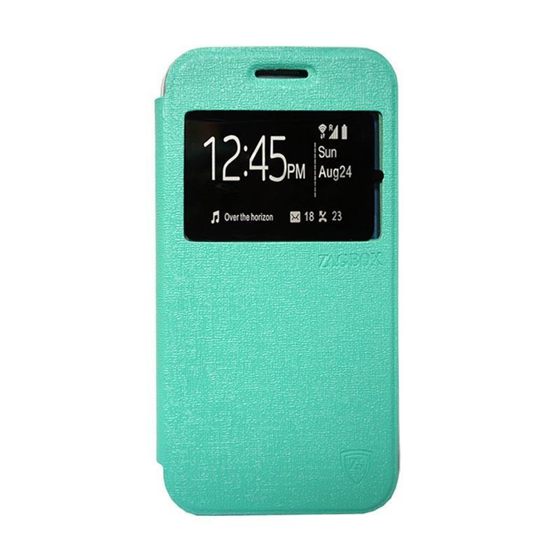 Zagbox Flip Cover Casing for Samsung Galaxy J1 Ace - Hijau Tosca