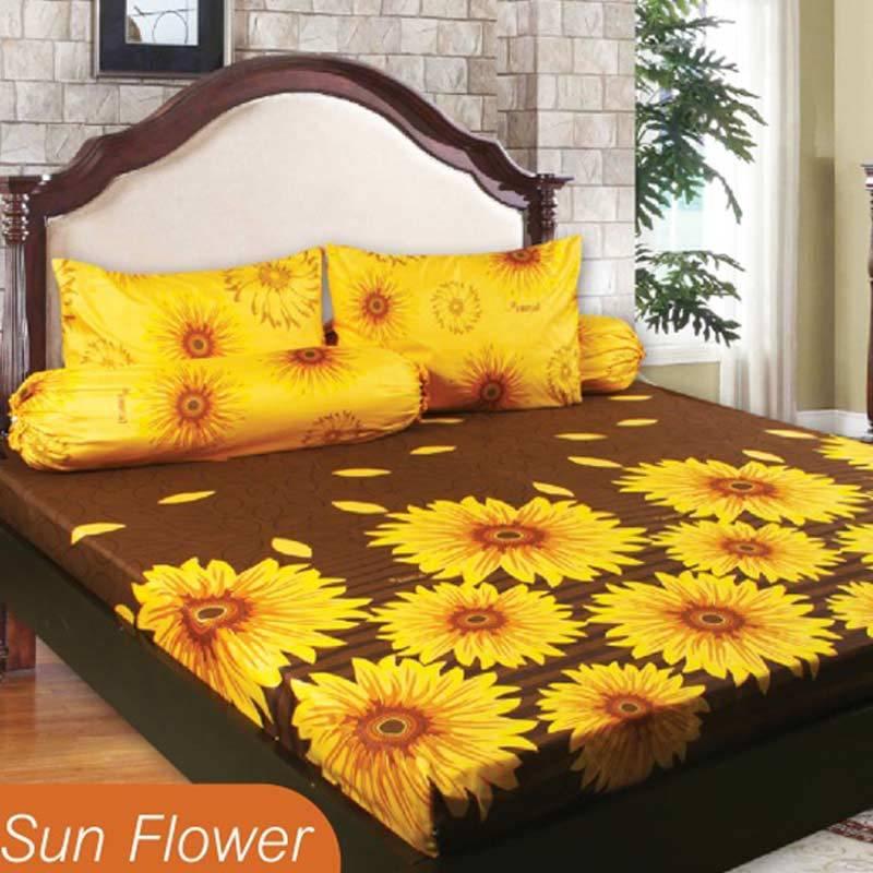 California Motif Sunflower Sprei Set [180 x 200 x 20 cm]