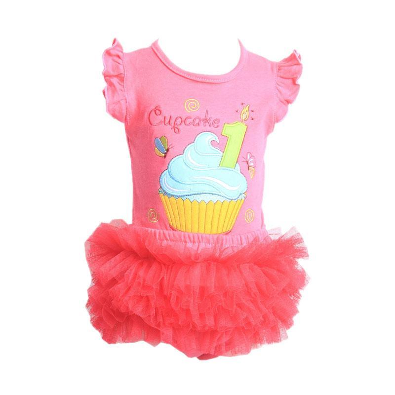 Chloe Babyshop F904 Tutu Cupcake Setelan Pakaian Anak - Peach