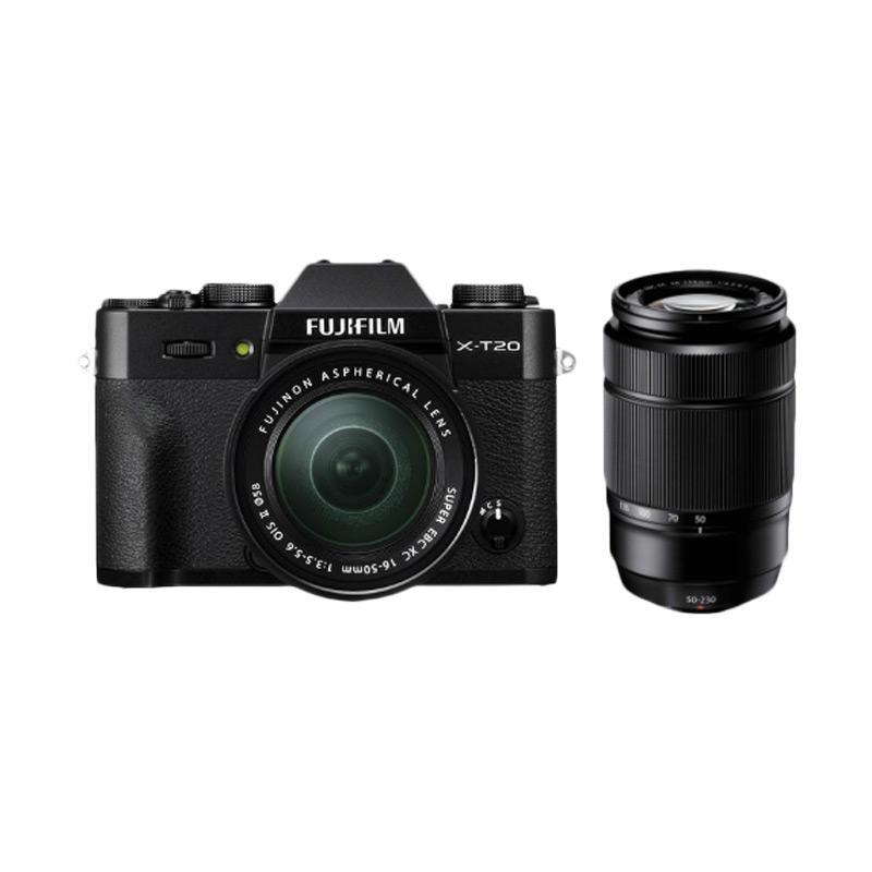 Fujifilm X-T20 Kit 16-50mm + 50-230mm Kamera Mirrorless - Black
