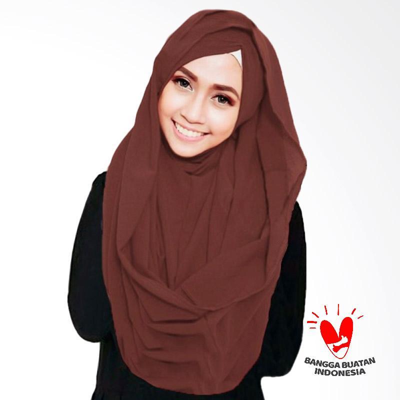 Milyarda Hijab Shiren Kerut Jilbab Instant - Brown