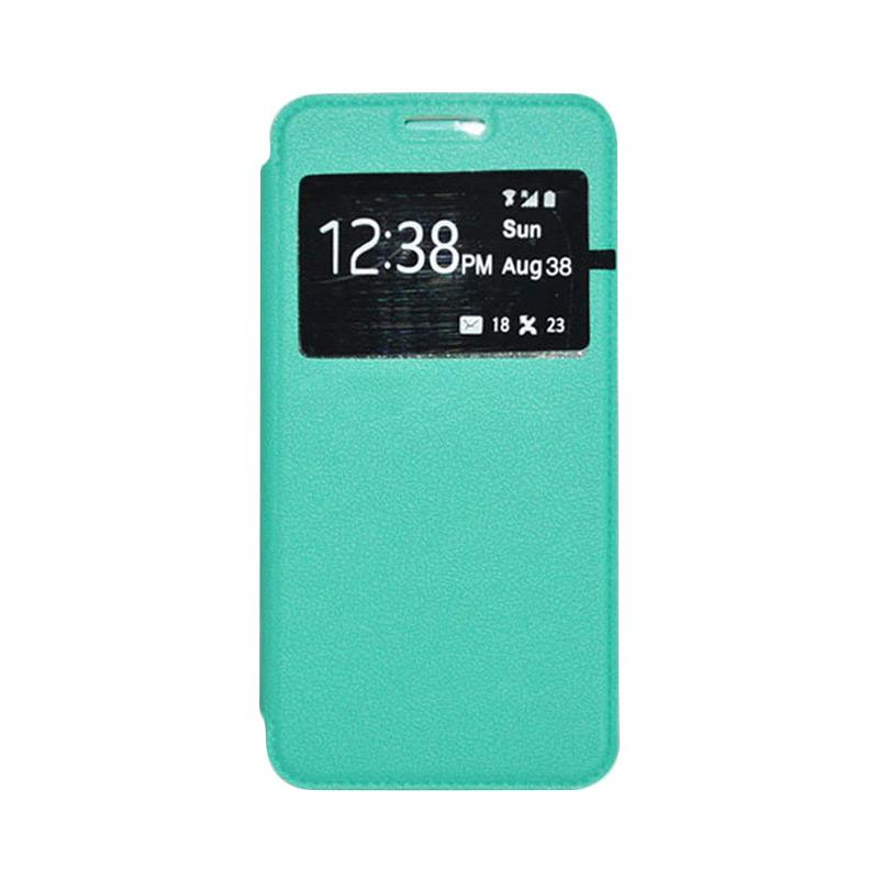 OEM Leather Book Cover Casing for Sony Xperia Z2 - Green