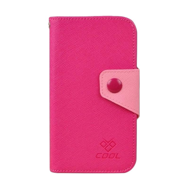 OEM Rainbow Flip Cover Casing for Xiaomi Mi 4i - Merah Muda