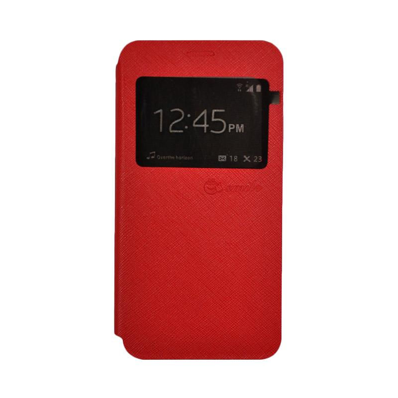 SMILE Standing Flip Cover Casing for Xiaomi Mi 5s - Red
