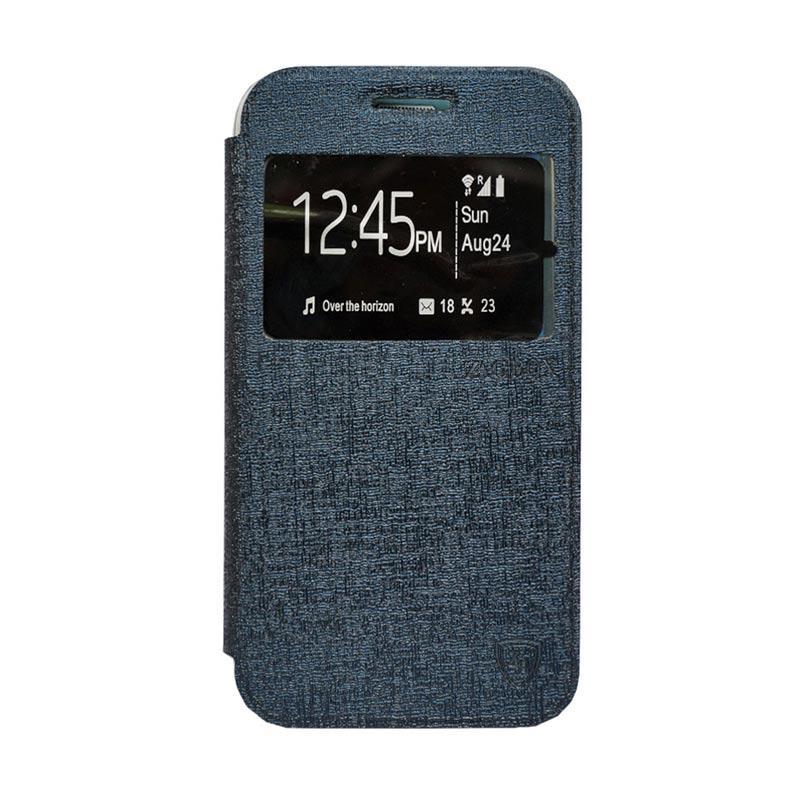 Zagbox Flip Cover Casing for Xiaomi Redmi Note 3 - Biru Dongker