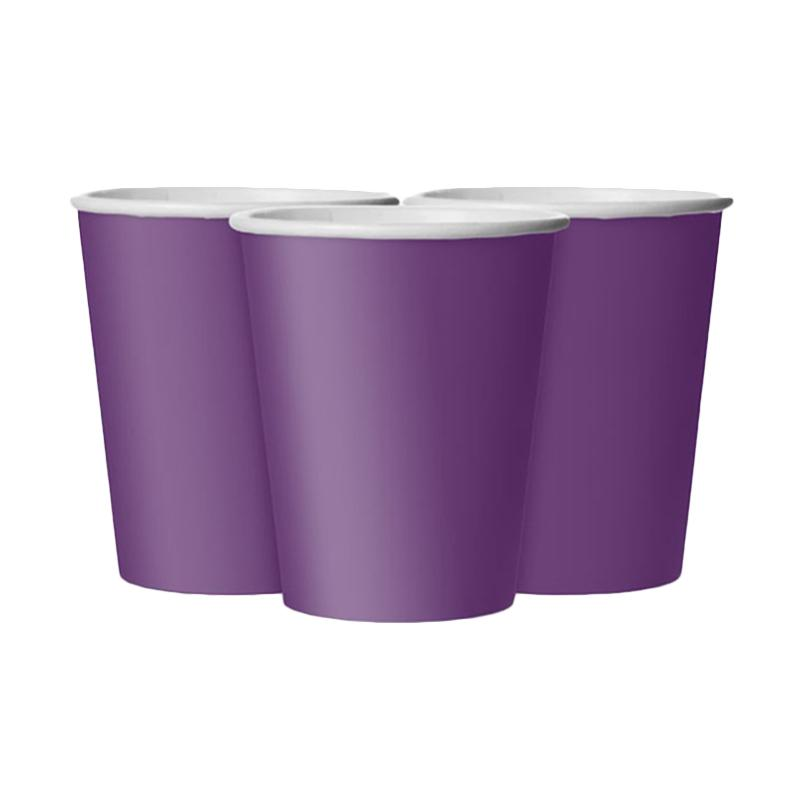Grins And Giggles Paper Cup Plain - Purple