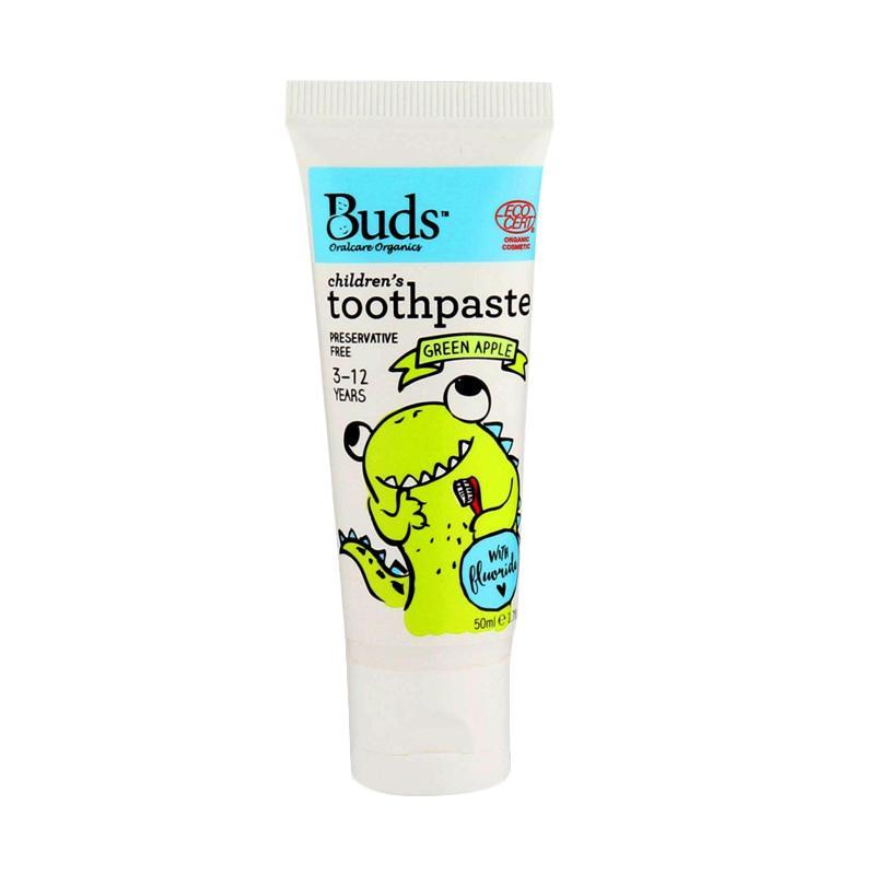 Buds Children's Toothpaste - Green Apple [50 mL/3 - 12 Year]