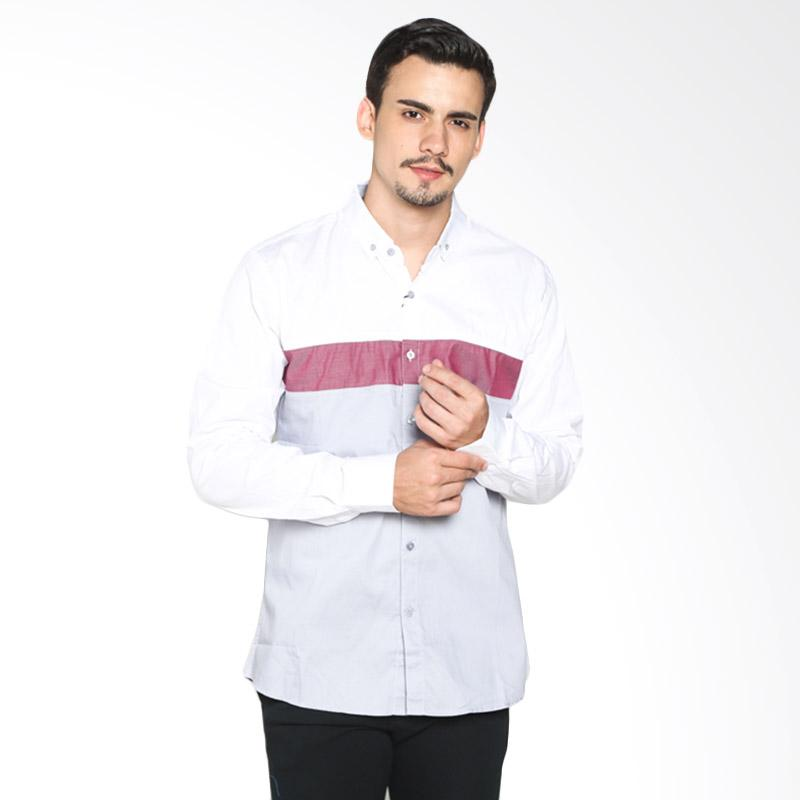 Red Cliff ZB4869JF Smart Casual Shirt - White Red Grey Extra diskon 7% setiap hari Extra diskon 5% setiap hari Citibank – lebih hemat 10%