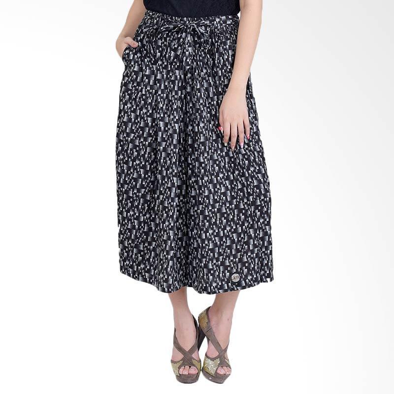 harga Jfashion Corak Batik Tannia Rok Celana Wanita - Hitam Blibli.com