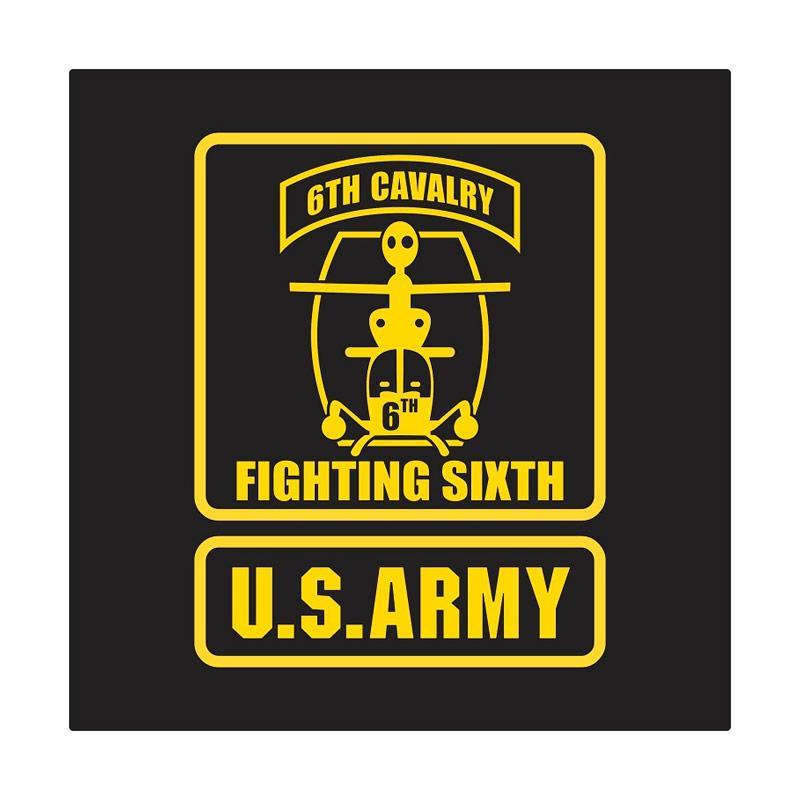 Kyle US Army 6th Cavalry Badge Frame Cutting Sticker