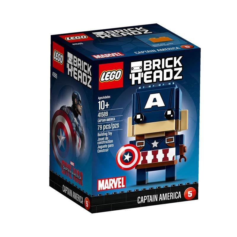 Lego Brick Headz 41589 Captain America Blocks & Stacking Toys