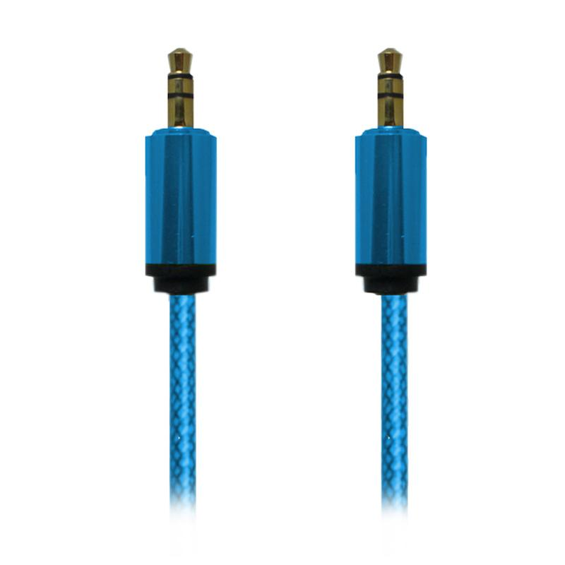 Rapid Kabel 3.5mm Male Stereo to 3.5mm Male Stereo - Biru