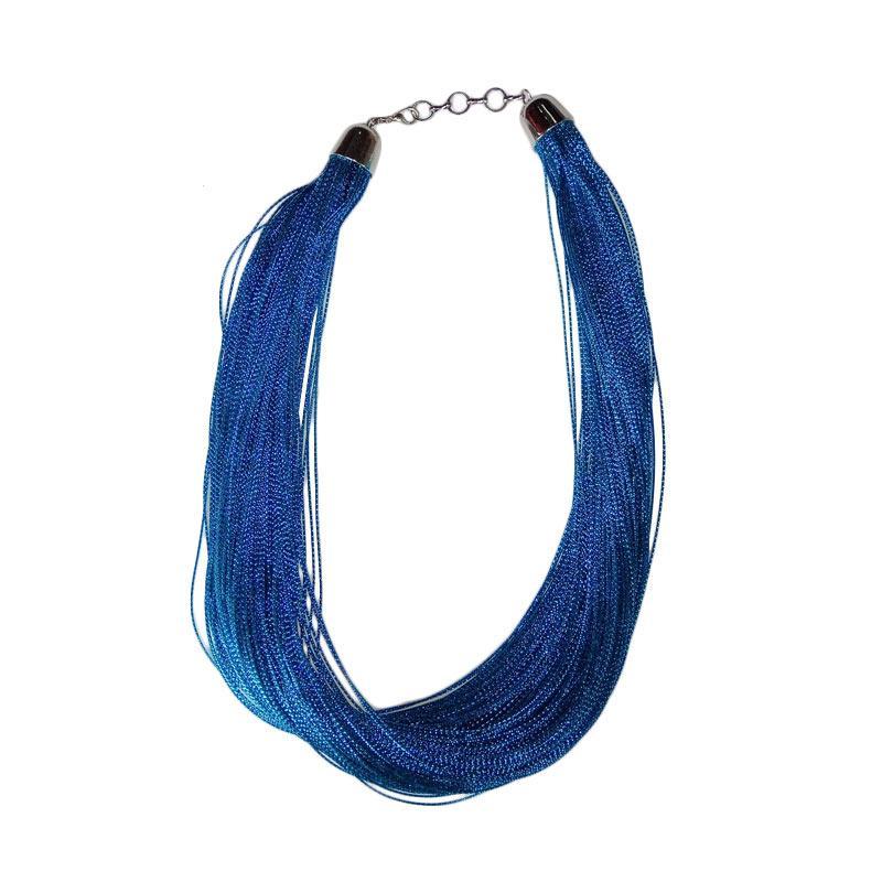 Tata Bali Shop 002 Glitter Kalung Fashion Wanita - Blue