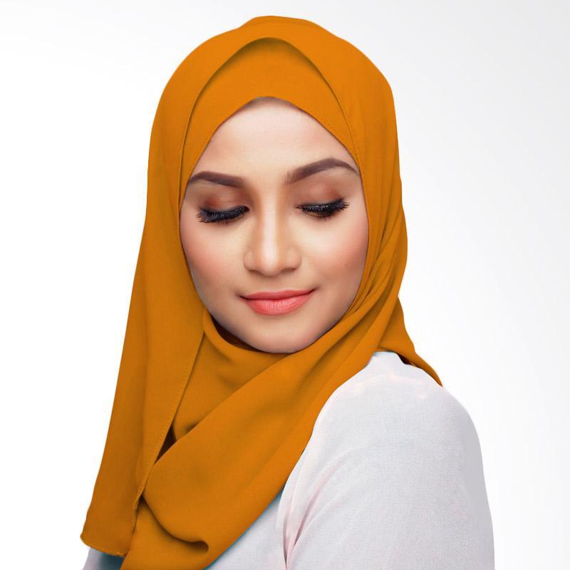 Aitana Hijab KD028 Kerudung Polos Segiempat - Orange Muda 2