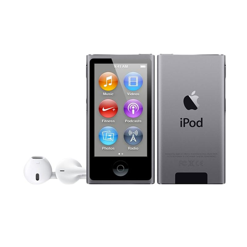 harga Apple iPod Nano 7th Gen 16GB Portable Player - Grey [Garansi Internasional] Blibli.com