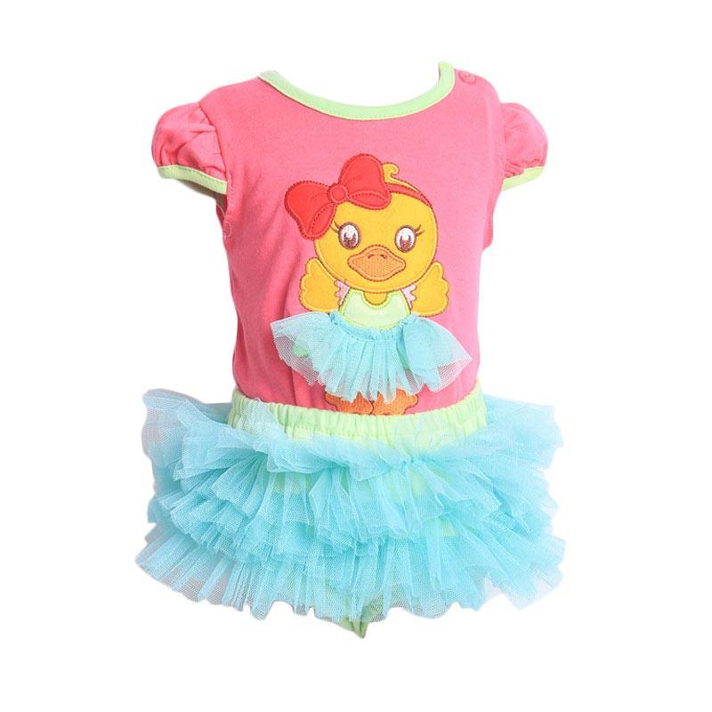 Chloe Babyshop F903 Duck Setelan Tutu Anak - Fuchsia