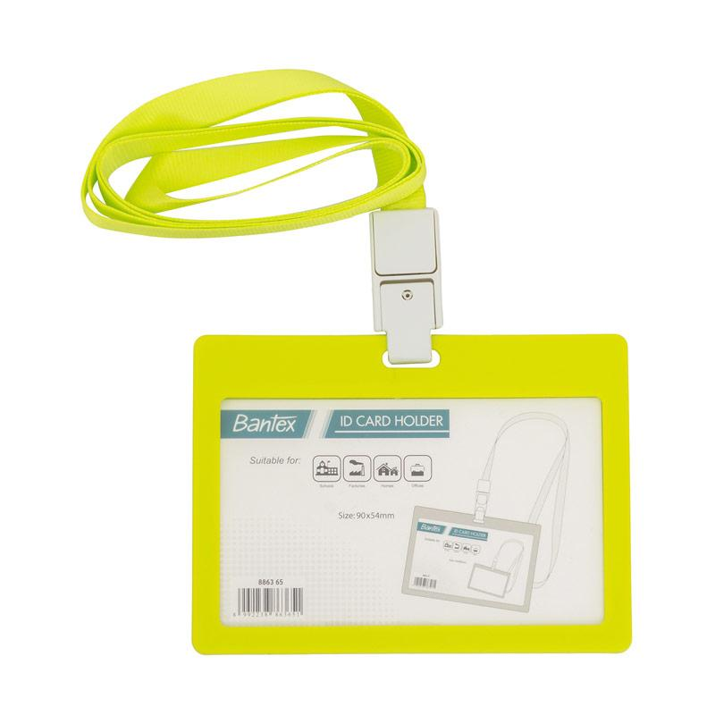 harga Bantex #8863 65 ID Card Holder Larnyard Landscape - Lime [90x54 mm] [2 pcs] Blibli.com