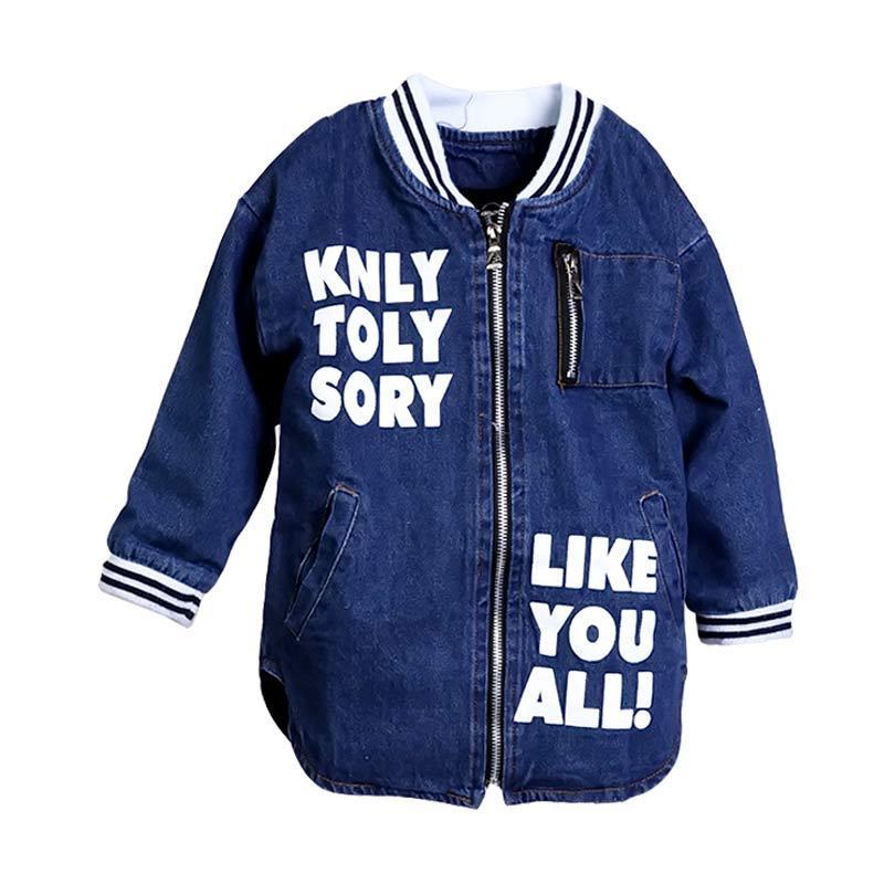 harga Chloe Babyshop F956 Jaket Varsity Jeans - Denim Blibli.com