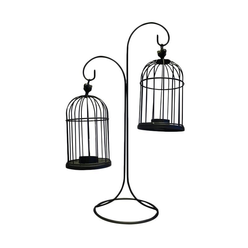 harga Huzora Dua Sangkar Burung Gantung Tempat Lilin Blibli.com