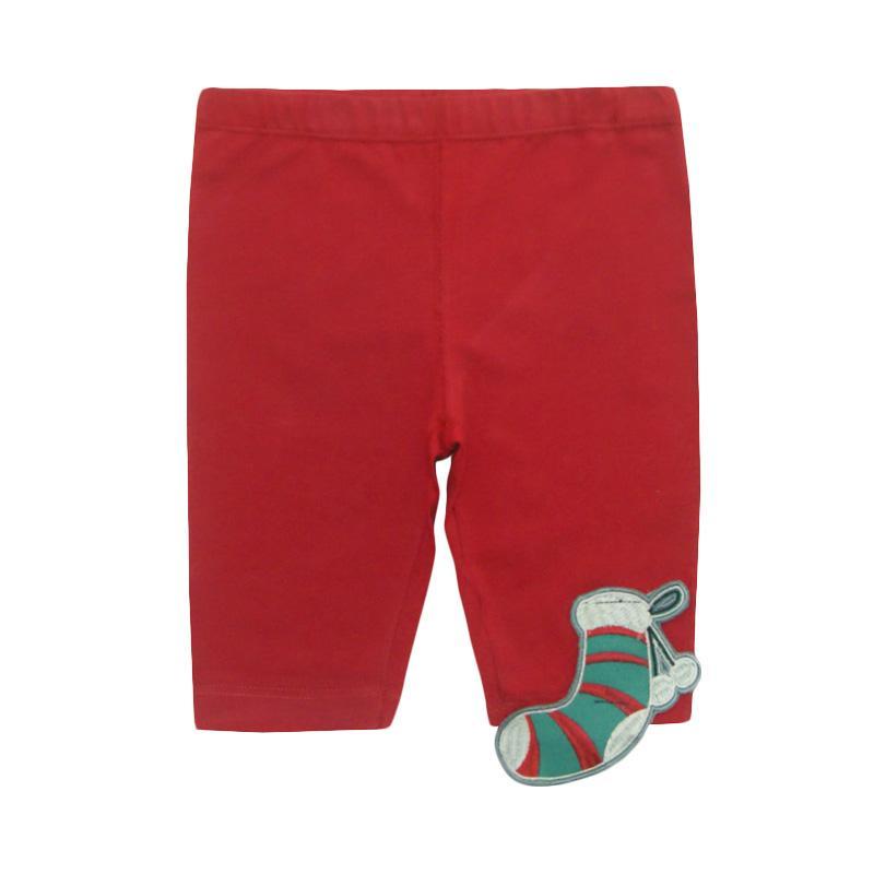 Bearhug Legging Pendek Bayi Perempuan Kaos Kaki - Merah