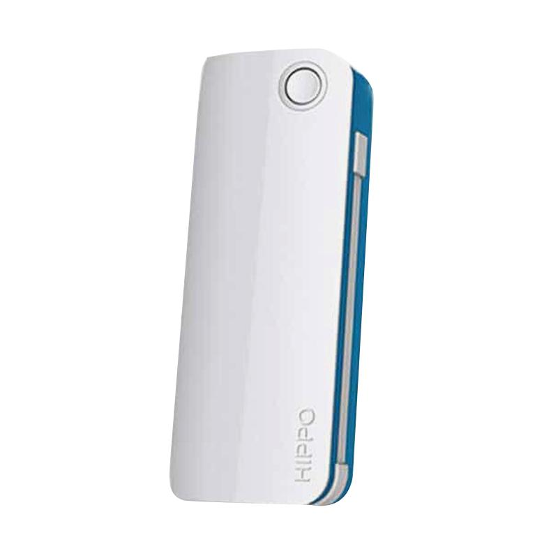 Hippo Snow White 2 Powerbank - Putih List Biru [6000 mAh]