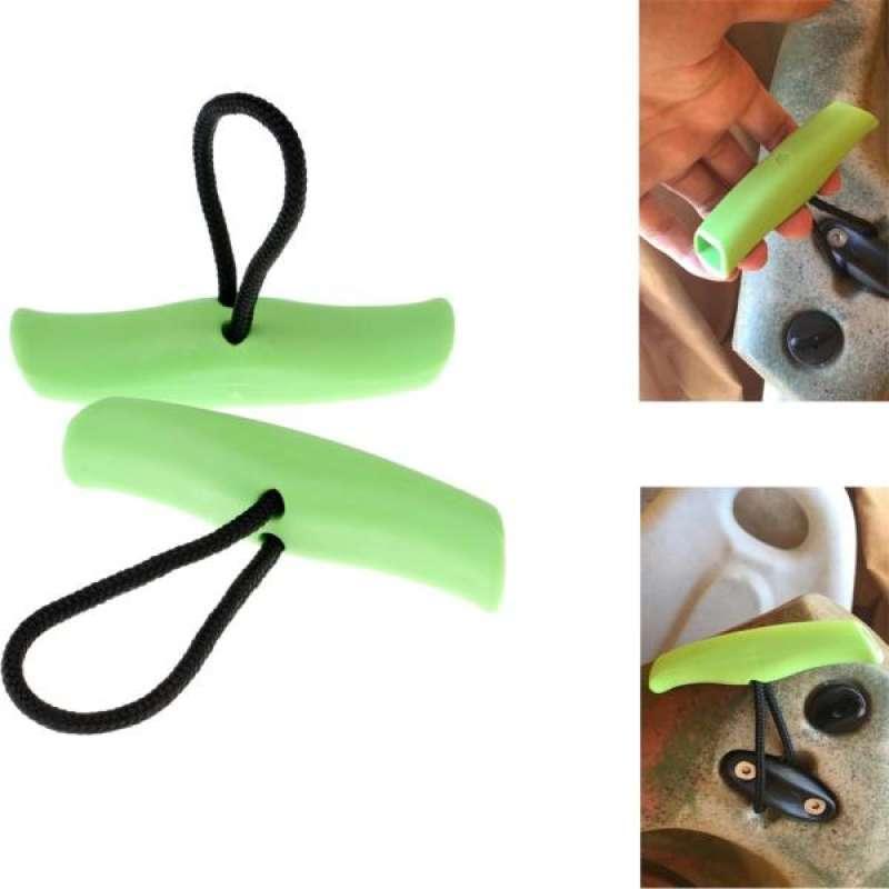 2pcs Black Nylon Kayak Canoe Boat Toggle Pull Carry Loop Handle Cord Accessories