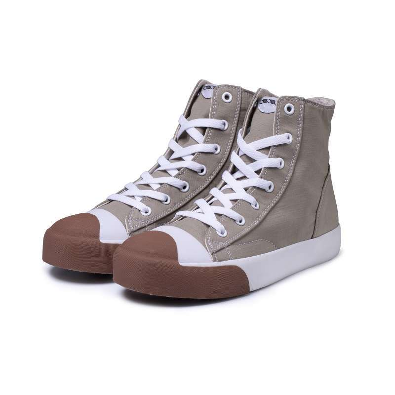 Rafheoo Ace High Khaki Ribstop Sepatu Vulcanized Sneakers Pria