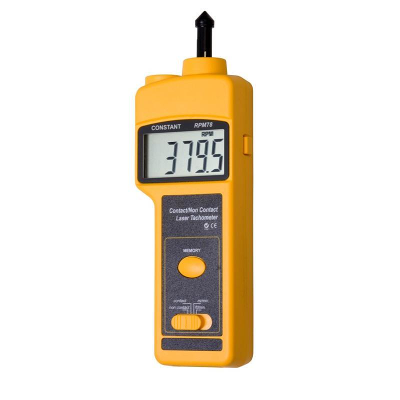 Constant RPM78 Contact Noncontact Tachometer